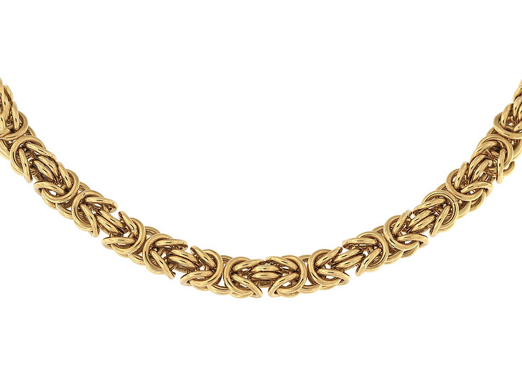 En vie Jewellery 9ct handmade ByzantineBracelet22cm,finished with lobster catch, 6.6mm width