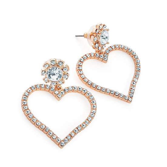 En-Vie™ Jewellery Beautifully designed dazzling crystal heart earrings, detailed an array of crystals.