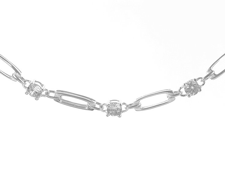 En vie Jewellery Stunning Silver & Cubic Zirconia Bracelet, a beautiful gift for any occasion, 5.4mm