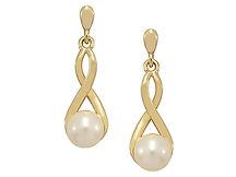 9ct Freshwater Pearl Dropper Earrings