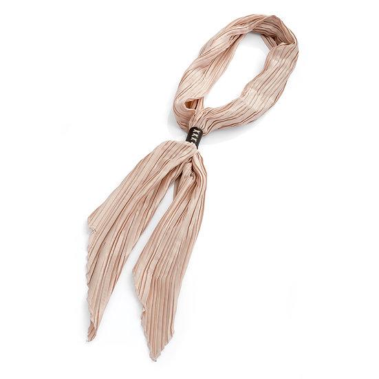 En vie Jewellery Cream crinkle look tie scarf