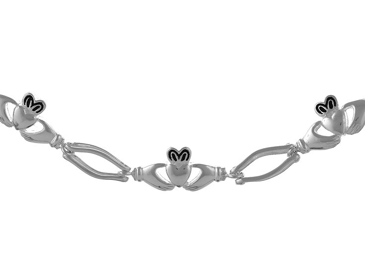 En vie Jewellery STERLING SILVER CELTIC HAND MADE BRACELET 19CM. FINISHED WITH A LEVER CATCH, 7.7MM