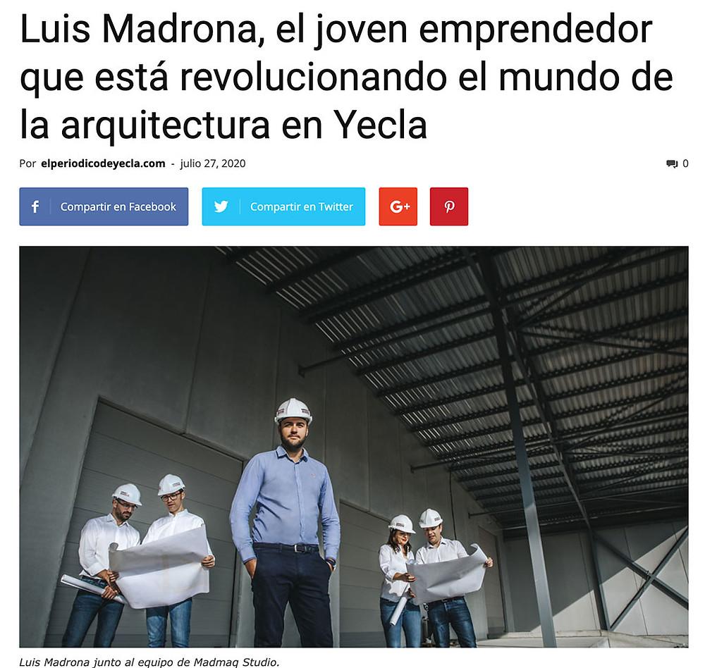 Luis Madrona, Director de Madmaq y compañeros (visita Porcelanosa)