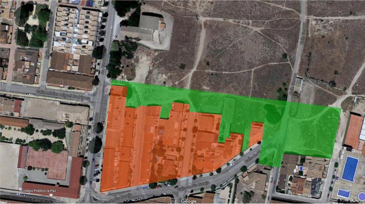 Fase de la ampliación (coloreada en verde)