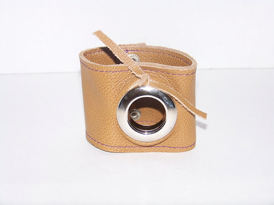 Grommet Leather Wrist Cuff