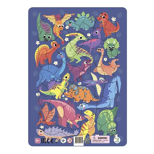 Пазл DODO Динозавры в рамке