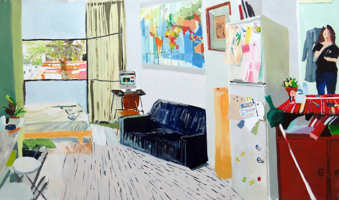 """This is my house, oil on canvas"", 60X110 cm, 2014"