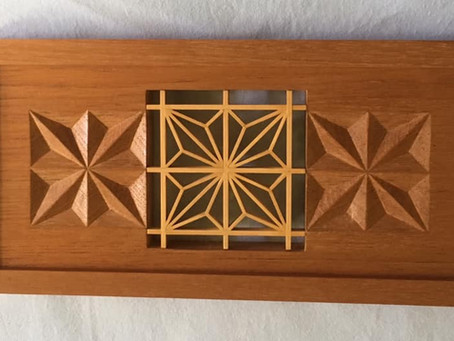 Geometric Woodcarving inspired by Sergio Monterio de Castro