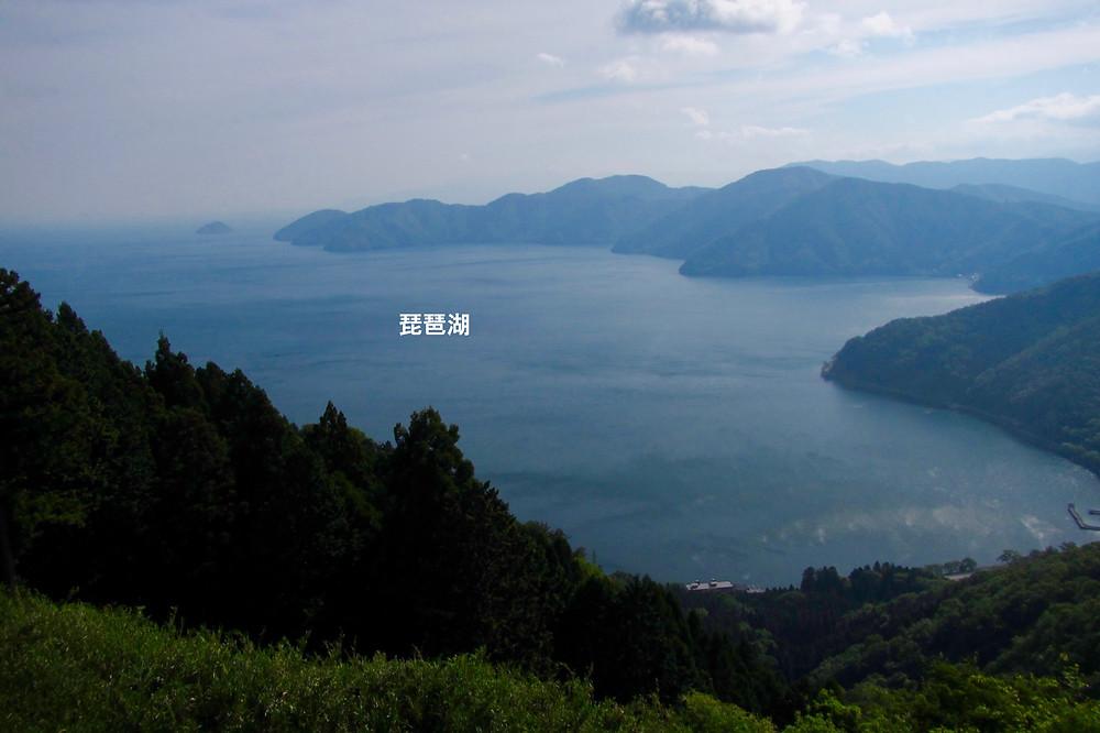 賎ヶ岳から望む琵琶湖