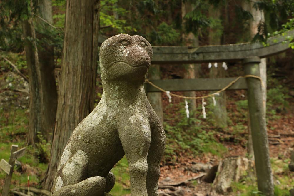 雷神神社の狛犬