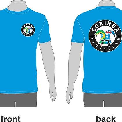 "Tee-Shirt Bleu avec Logo ""Coringa Jiu-Jitsu"" (Tailles adultes)"