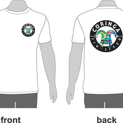 "Tee-Shirt Blanc avec Logo ""Coringa Jiu-Jitsu"" (Tailles adultes)"