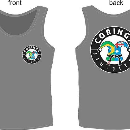 "Tee-Shirt sans manche, Gris, avec Logo ""Coringa Jiu-Jitsu"" (Tailles adultes)"