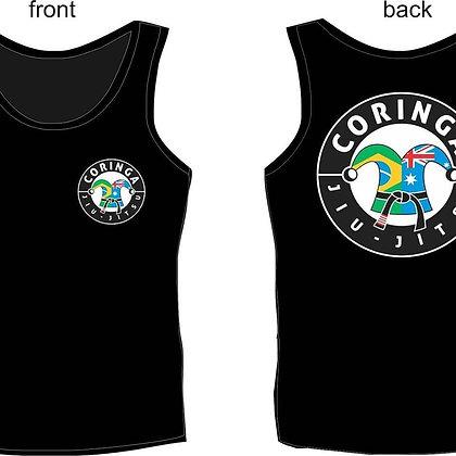 "Tee-Shirt sans manche, Noir, avec Logo ""Coringa Jiu-Jitsu"" (Tailles Adultes)"