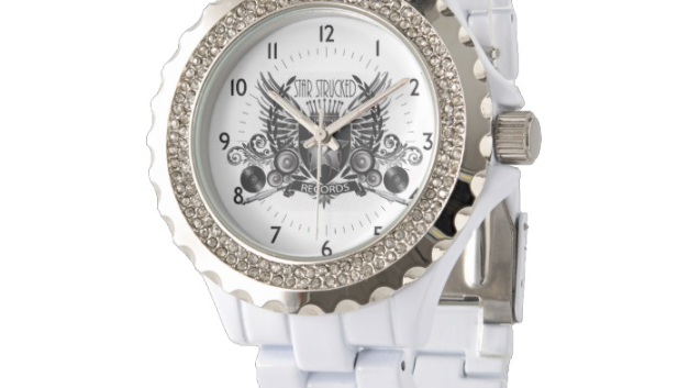 SSR Women's Rhinestone White Enamel Watch