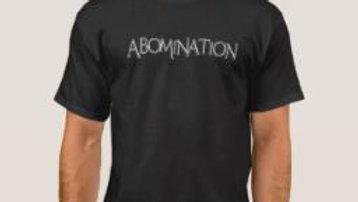 ABOMINATION Logo Black Shirt - IzzI Starz