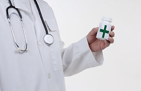 doctor wearing stethoscope isolated on w