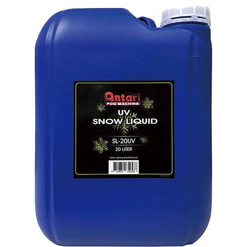Antari 20 Liter Bottle of Blacklight UV Active Snow Refill Fluid