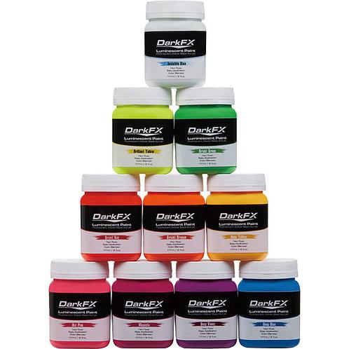 Antari DarkFX Black Light / UV Paint - 6oz UV Paint Variety 10-Pack