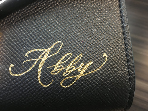CALLIGRAPHY ON LEATHER SERVICE