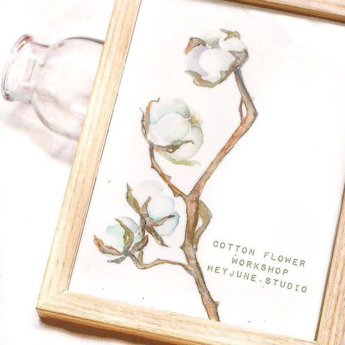 Watercolor Cotton Flowers Workshop
