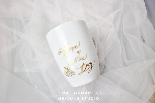 CERAMIC CUP WITH CALLIGRAPHY