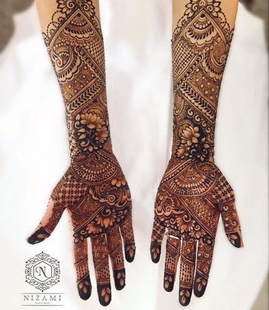 Nizami by Halima Khan - bridal hand mehe