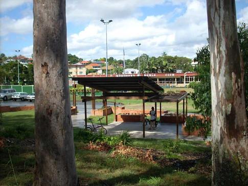 Koala Park Community Garden shelter and pergola