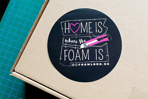"""Sticker """"Home is where the Foam is"""""""