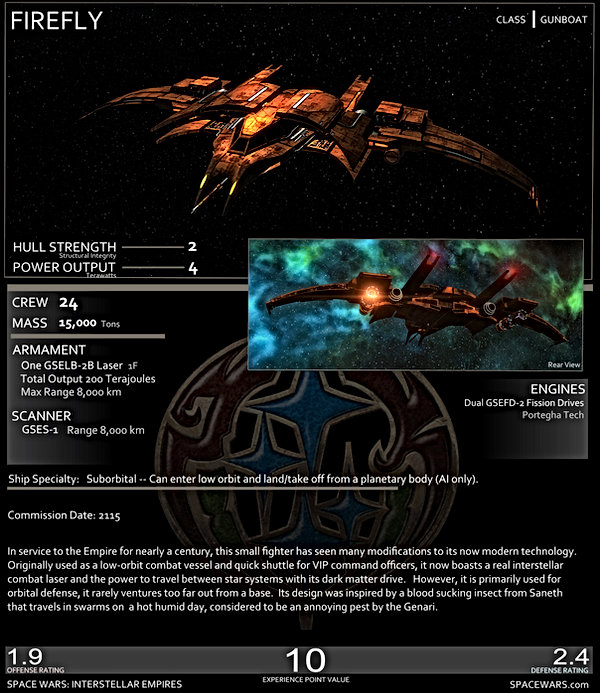 Genari Firefly Stats