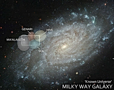 Milky Way Galaxy with Spacewars Races