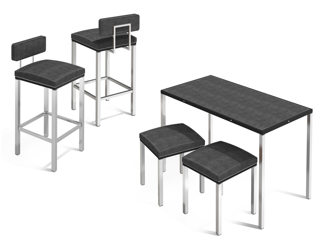 Corner Concept Furniture - Generation 2 - Bar Stools & Sales Table + stools