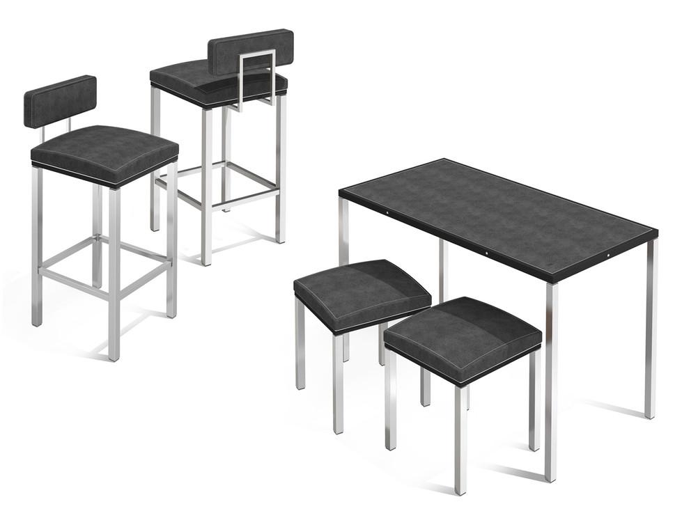 Corner Concept Furniture - Generation 2 - Bar Stools & Sales Table + stools