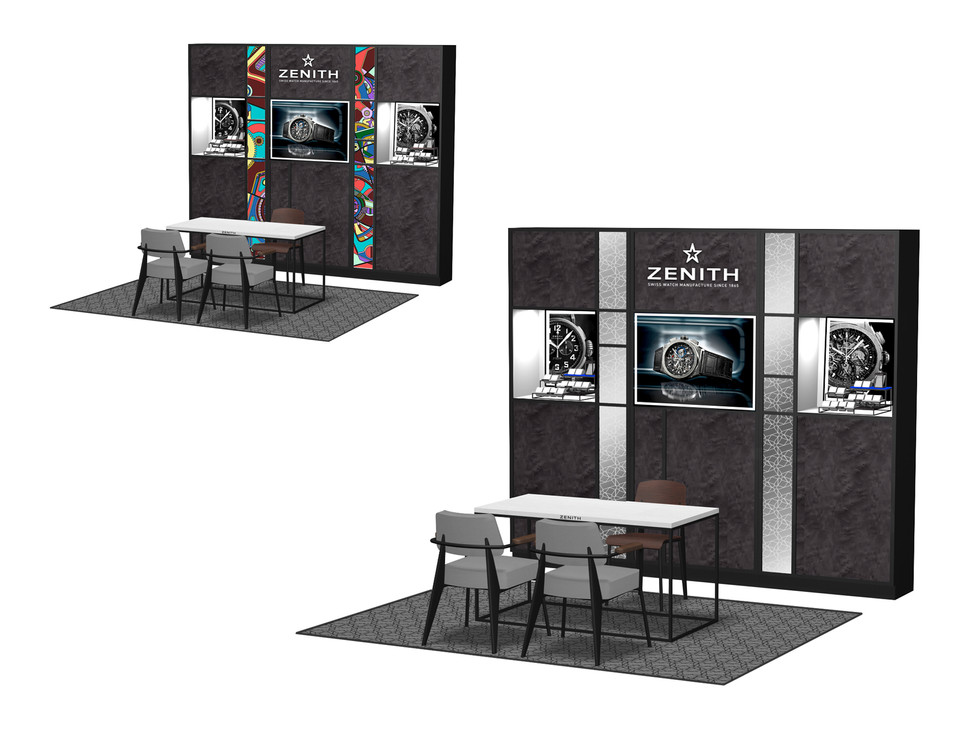 Corner Concept - Composition with Backwall and Sales table