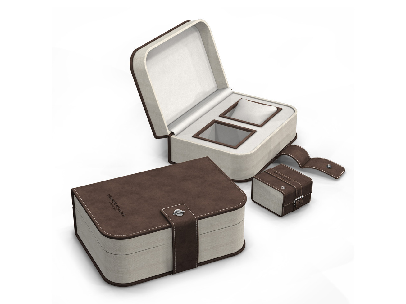 Luxury packaging including travel pouch
