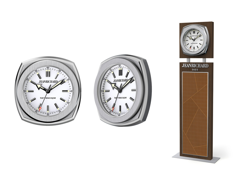 Standing and wall clock