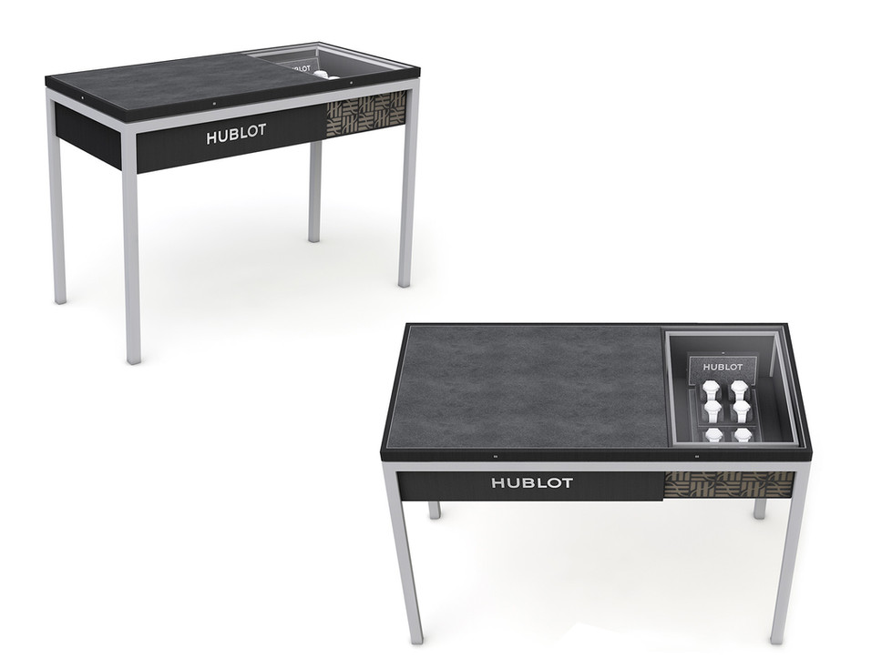 Corner Concept Furniture - Generation 2 - Sales Table with integrated showcase