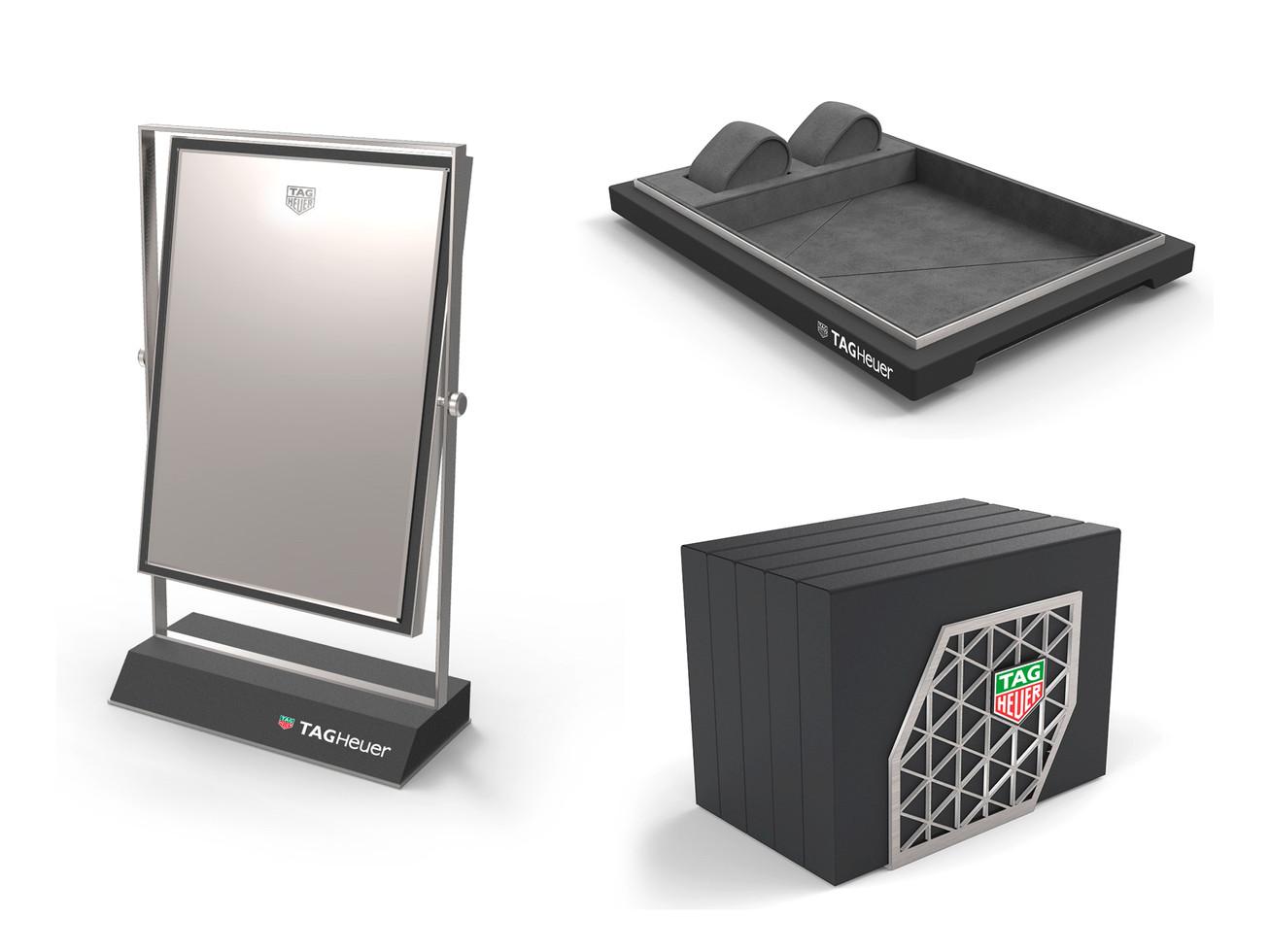 Retail Accessories - Mirror, Presentation tray, Catalog holder