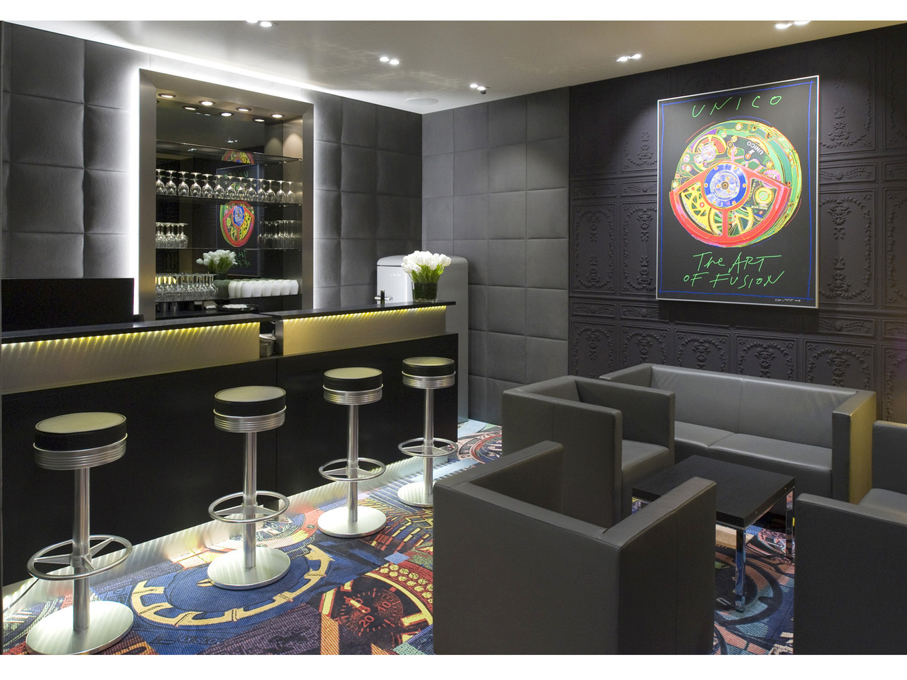 Baselworld interior - Reception/Waiting lounge bar
