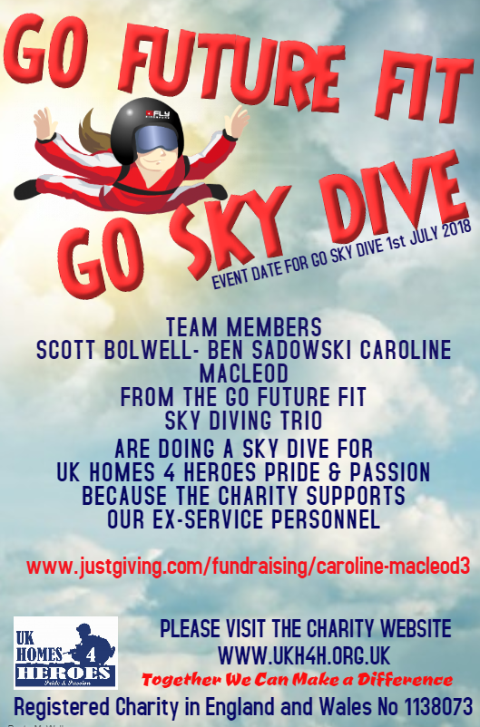 Sponsored Sky dive for UKH4H