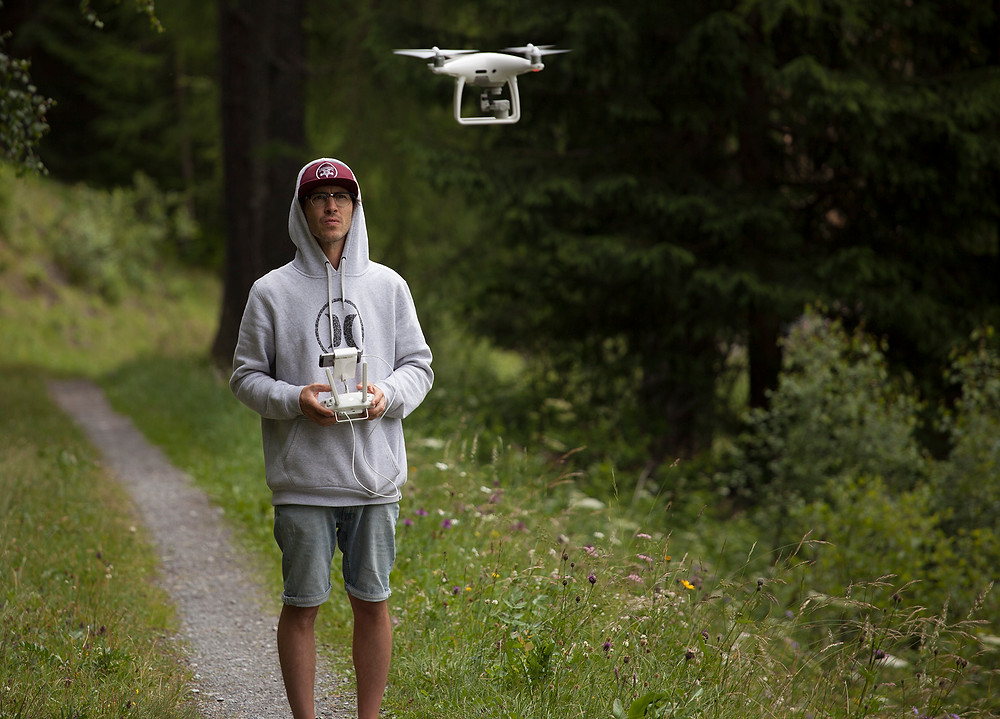 Myself operating the drone