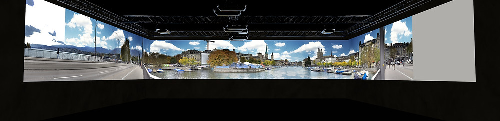 360° Test-projection from a project for the agency Streuplan, Zurich