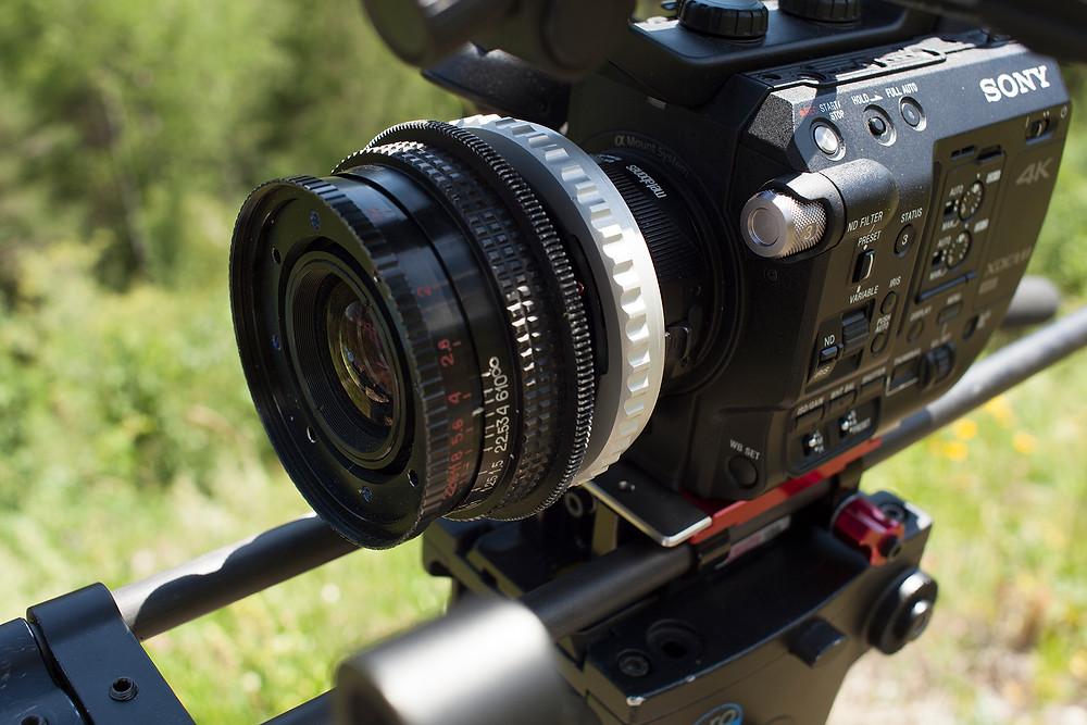 Sony FS5 with Lomo OKC11