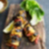 Chicken tikka skewers_WITH PINEAPPLE & C