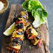 Chicken tikka skewers_WITH PINEAPPLE & C