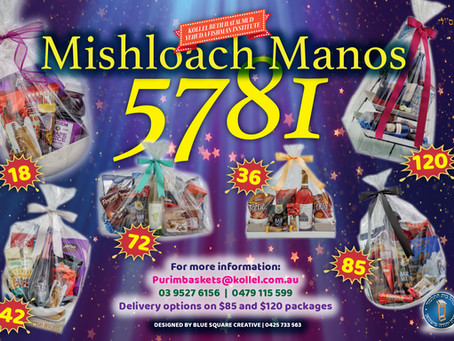 Kollel Mishloach Manos 5781