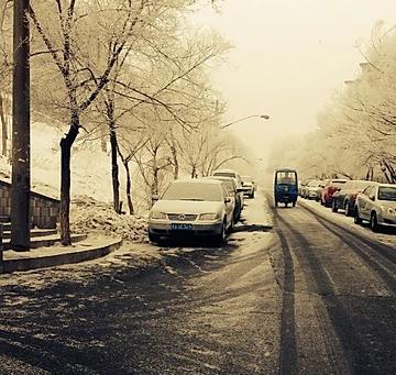中国一番西の都市新疆ウイグル自治区2019年の初雪