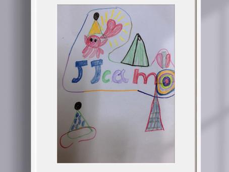 子供たちがデザインしてくれたJJcampのキャラクターです!めちゃくちゃ可愛い❣