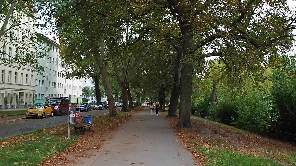 People strolling at Carl-Herz-Ufer