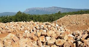 Roche calcaire ocre/rosée